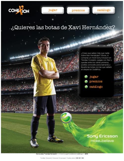 Juega con Sony Ericsson y Xavi Hernández